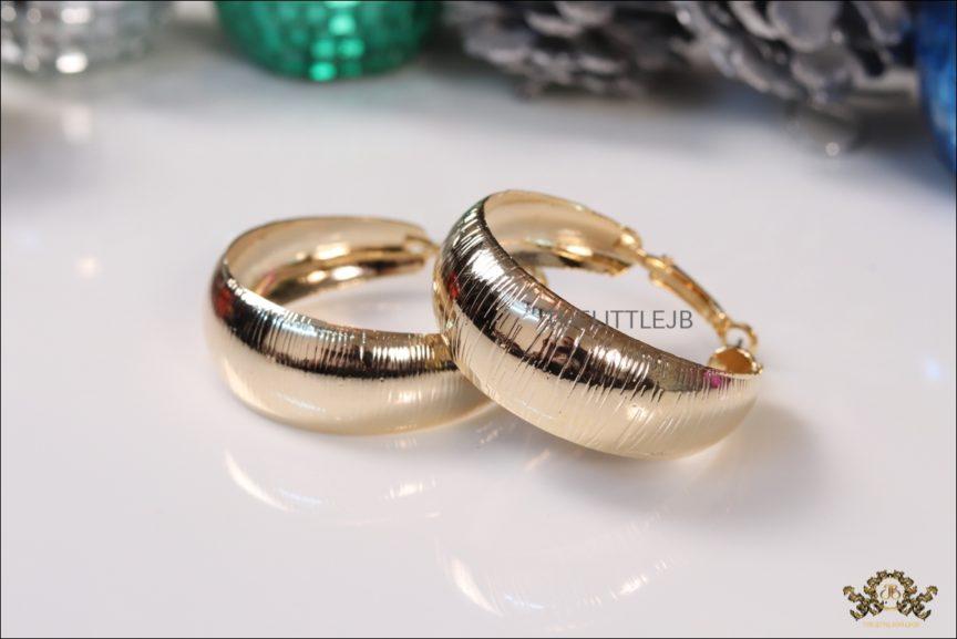 Double Layered Golden Hoop Earrings